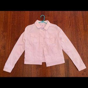 Lularoe White Button Up Denim Jacket